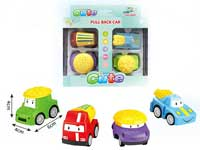 Pull  Back Cartoon Car(4in1)