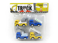 Pull Back Construction Truck(4in1) toys