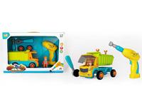 Pull Back Diy Mud Hopper Car W/M toys