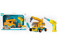 Pull Back Diy Crane W/M toys