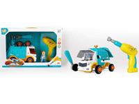 Pull Back Diy Sanitation Car W/M toys