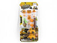 Pull Back Construction Truck Set(2in1) toys