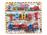 Pull Back Fire Engine Set toys