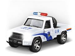 1:32 Die Cast Police Car Pull Back W/L_M toys