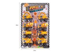 Pull Back Construction Truck(8in1) toys