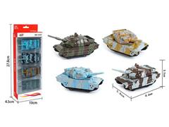 Die Cast Tank Pull Back(4in1) toys