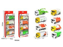 Die Cast Sanitation Car Pull Back(4in1) toys