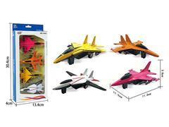 Die Cast Fighter Pull Back(4in1) toys