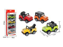 Die Cast Jeep Pull Back(4in1) toys