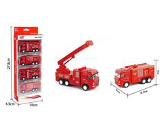 Die Cast Fire Engine Pull Back(4in1) toys