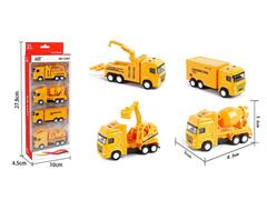 Die Cast Construction Truck Pull Back(4in1) toys