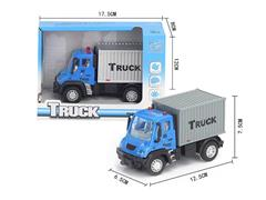 1:64 Pull Back Container Truck toys