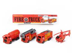 Pull Back Fire Engine(4in1) toys