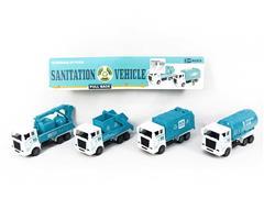 Pull Back Sanitation Car(4in1) toys