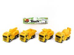 Pull Back Construction Truck(4S) toys