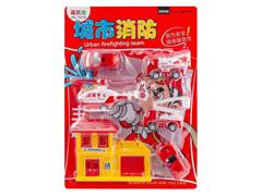 Pull Back Fire Engine Set toys