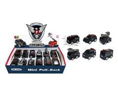 Die Cast Police Car Pull Back(12in1) toys