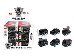 Die Cast Police Car Pull Back(24in1) toys