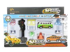 Die Cast Car Set Pull Back toys