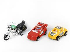 Pull Back Motorcycle & Pull Back Car(3in1) toys