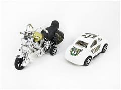 Pull Back Motorcycle & Pull Back Car(2in1) toys