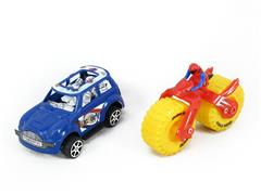 Pull Back Car & Friction Motorcycle(2in1) toys