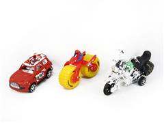 Pull Back Motorcycle & Pull Back Car & Friction Motorcycle(3in1) toys