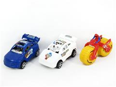 Pull Back Car & Friction Motorcycle(3in1) toys