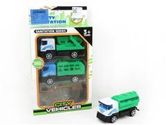 Pull Back Sanitation Car(3in1) toys