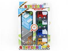 Pull Back Sanitation Car Set(4in1) toys