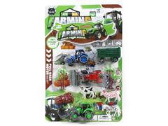 Pull Back Farmer Car Set toys