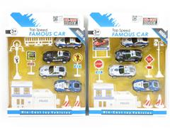 Pull Back Police Car Set(2S) toys