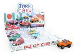 Die Cast Cross-country Car Pull Back(12in1) toys