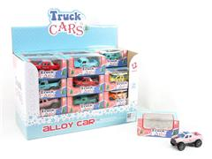 Die Cast Cross-country Car Pull Back(24in1) toys
