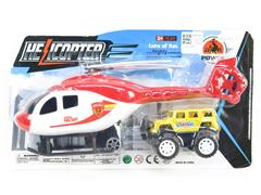 Pull Back Helicopter & Free Wheel Cross-country Car toys