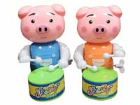 Wind-up Play The Drum Pig(2C)