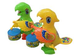 Wind-up Playing Drum Parrot(3C) toys