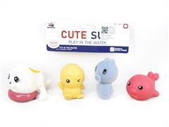 Wind-up Swimming Rabbit & Latex Animal toys