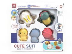 Wind-up Swimming Tortoise & Rabbit & Latex Animal toys