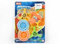 2in1 Pull Line Flying Saucer