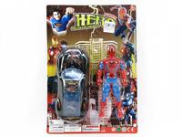 Pull Line Car W/L & Spider Man(2C) toys