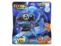 Pull Line Flying Saucer Aircraft W/L toys
