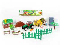 Friction Farmer Tractor Set