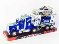 Friction Truck Tow Free Wheel Police Car(4C)