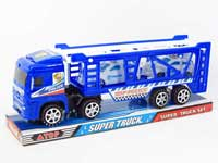 Friction Truck Tow Police Car