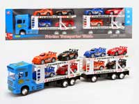 Friction Double Deck Truck Tow Racing Car(3C)