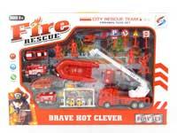 Friction Fire Engine Set