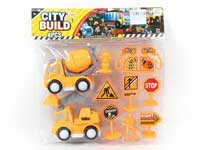 Friction  Construction Truck Set