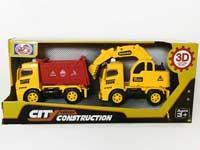 Friction Construction Truck W/L_M(2PCS)