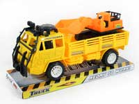 Friction Construction Truck Tow Free Wheel Bulldozer